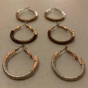 NWOT Metallic Hoops Bundle